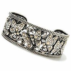 "Artisan Silver by Samuel B. 6.5"" Polished Butterfly Cuff Bracelet"