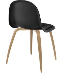Name: 5 Chair Brand: Gubi  (wooden legs so probably not outdoor)  -upholstered back in fabric, leather, HiRek or wood