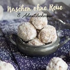 Die leckersten Eiskugeln, seit es Schneebälle gibt - mit Mandelmehl und Walnüssen, Kokosmehl und Kardamom.