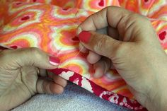 Tutorial: Invisible Ladder Stitch for Quilt Binding >>> (this is my preferred stitch when you want your stitches to disappear, I think it's easier and cleaner than a whipstitch)