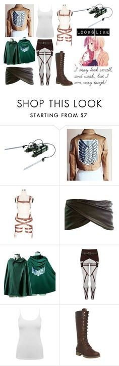 """""""Attack On Titan OC"""" by arithegeek11 on Polyvore featuring M&Co and Timberland - COSPLAY IS BAEEE!!! Tap the pin now to grab yourself some BAE Cosplay leggings and shirts! From super hero fitness leggings, super hero fitness shirts, and so much more that wil make you say YASSS!!!"""