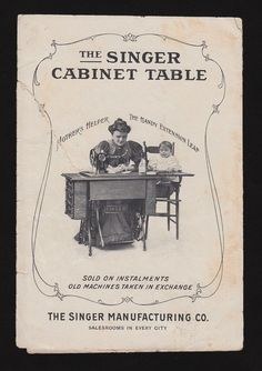 Victorian Sewing   Victorian Trade Card Singer Sewing Machine