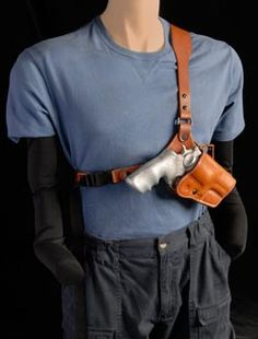 The Guides Choice™ Leather Chest Holster, the ULTIMATE outdoor leather gun holster.Alaskan Made gun holster for easy use and utility. Weapons Guns, Guns And Ammo, Custom Leather Holsters, Gun Holster, Kydex, Hunting Gear, Leather Projects, Leather Working, Leather Craft