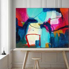 Sarina Diakos Abstract painting navy blue