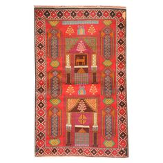 Herat Oriental Afghan Hand-knotted Tribal Balouchi Rust/ Rug