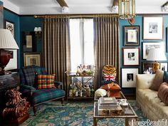 """""""The living room is where everything I love comes into play,"""" Wood says."""