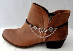 Boot Chains Bracelet, Double hearts with chain, Boot Bracelet, Devoted Hearts Ugg Style Boots, Ugg Boots, Shearling Boots, Leather Boots, Large Womens Shoes, Boot Jewelry, Diy Jewelry, Boot Bracelet, Boot Bling