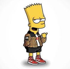 The Simpsons Characters Gets A Fashion Upgrade In Streetwear From Illustrator