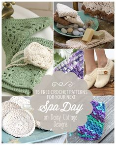 15 Free Spa Crochet Patterns | www.daisycottagedesigns.net