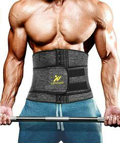 NINGMI Men Waist Trimmer Belt Slim Body Sweat Wrap Sauna Sweat Belt and Workout Waist Trainer #fitnesswears #fitness #health #belts #fitnessbelts #weight #weightlose #weightlosebelt #weightlosing #workout #slim #body Waist Trainer For Men, Sweat Belt, Lower Back Muscles, Workout Vest, Stubborn Belly Fat, Improve Posture, Slim Body, How To Do Yoga, Weight Loss
