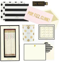 Darling Kate Spade Office Supplies  Stationary