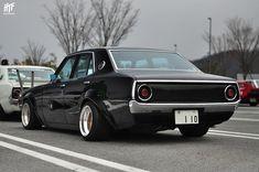 Nissan Skyline // at Nagoya Classic Japanese Cars, Classic Cars, Mitsubishi Cars, National Car, Nissan Gtr Skyline, Old School Cars, Japan Cars, Retro Cars, Custom Cars