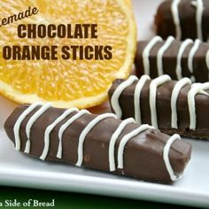 HOMEMADE CHOCOLATE ORANGE STICKS