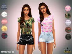 Chunky Tees V.2 at NiteSkky Sims via Sims 4 Updates