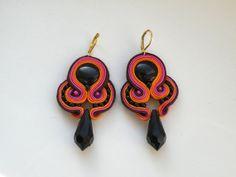 Malaga  Dangle soutache earrings by Bajobongo on Etsy, $22.00