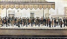 LS Lowry - The Railway Platform