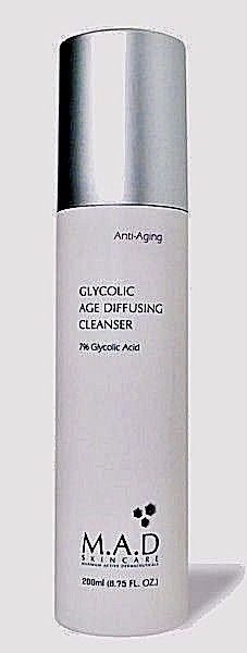 Anti-Aging Glycolic Age Diffusing Cleanser by M.A.D.Skin Care 7% Glycolic Acid #MAD