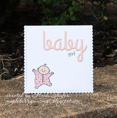 Mapleberry Musings: Baby Girl Card & Gift Wrap
