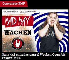 #Concurso #EmpSpain Gana 4x2 #entradas para el #Wacken Open Air #Festival 2014 !!! ¡Mad May!  Cada día una locura diferente en forma de #premios #promociones y #descuentos EMP Online España • Tienda Rock • Heavy Metal • Gótica  • Alternativa •  #Wacken #Entradas #Concurso #EmpSpain http://emp.me/BGS