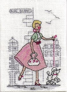 Mes Parisiennes Grand Art, Blog, Le Point, Atc, Needle And Thread, Cross Stitch Embroidery, Sewing, Fabric, Vintage