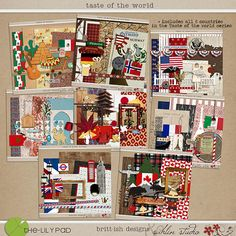 Taste of the World by Sahlin Studio (features kits related to the World Showcase Pavilions)