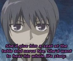 Yuki on how Tohru would treat a robber.