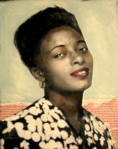 Georgia African American Lovely a vintage inspired portrait painting. $36.99, via Etsy.