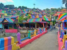 Rainbow village in Indonesia (provided by the Telegraph)