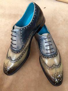 Dominique Saint Paul. Hand coloured full brogue shoes.
