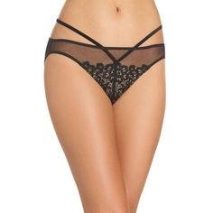 Women's Dita Von Teese Bikini (180 PLN) ❤ liked on Polyvore featuring swimwear, bikinis, black, lace two piece, strap bikini, bikini swim wear, bikini swimwear and pin up swimwear