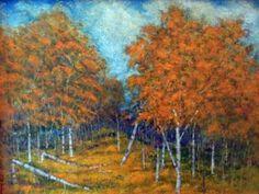 """Saatchi Art Artist Dick Jenkins; Painting, """"Autumn Birch"""" #art"""