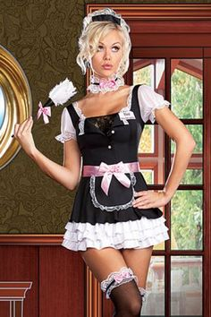 $12.45; Virtuous French Maid Costume With Satin Apron makes you more attractive to your  sc 1 st  Pinterest & 19 best Sexy French Maid Costumes images on Pinterest | Maid ...