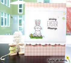Sending Easter Blessings Card by Yuki // Hoppy Easter Spring Release - rightathomeshop.com/blog
