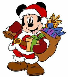 Mickey Mouse As Santa 2 - Mickey and Friends Christmas - Holiday Disney Character Designs in 4 sizes Embroidery - Mickey Mouse Imagenes, Mickey Mouse Png, Mickey Mouse Christmas, Christmas Cartoons, Christmas Characters, Mickey Mouse And Friends, Christmas Stickers, Christmas Clipart, Disney Mickey