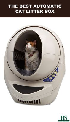 This automatic cat litter box was rated The Best by the Hammacher Schlemmer Institute because it cleaned more quickly and thoroughly than all other models. Unlike inferior units that offered no control for setting its self-cleaning function and allowed waste to linger for as long as 20 minutes, The Best model enabled one to set the self-cleaning cycle to activate at three, seven, or fifteen minutes after a cat leaves.