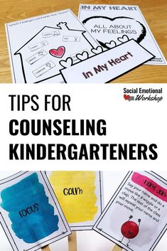Counseling With Kindergarteners: 6 Simple Tips - Social Emotional Workshop - Counseling With Kindergarteners: 6 Simple Tips. Counseling with kindergarteners isn't easy. Social Work Activities, Social Emotional Activities, Counseling Activities, Group Counseling, Kid Activities, Elementary School Counselor, Elementary Schools, School Counseling Office, School Social Work