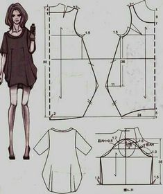 Dress tailor sew Abito a palloncino Diy Clothing, Sewing Clothes, Clothing Patterns, Dress Patterns, Sewing Patterns, Dress Sewing, Fashion Sewing, Diy Fashion, Fashion Ideas