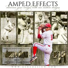 """Amp up your photos with our custom effects. You'll be an instant hit in the sports market with our """"Amped Effects"""" templates. We have an template and a poster size template. Softball Backgrounds, Baseball Scrapbook, Sports Templates, Design Templates, Baseball Pictures, Senior Pictures, Basketball Posters, Photography Templates, Popular Photography"""