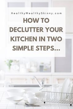 The kitchen should be a relaxing haven, but it's easy to let clutter build up. Discover some kitchen organization ideas to help you declutter and organize. Pig Kitchen, Kitchen Hacks, Kitchen Counters, Kitchen Cabinets, Kitchen Cleaning, Kitchen Storage Solutions, Kitchen Organization, Organization Hacks, Organizing Tips
