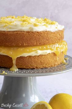 My Gluten Free Lemon Cake Recipe with homemade curd (dairy free, low FODMAP) Gluten Free Treats, Gluten Free Cakes, Gluten Free Baking, Gluten Free Desserts, Dairy Free Recipes, Fodmap Recipes, Cake Recipes, Dessert Recipes, Lemon Desserts