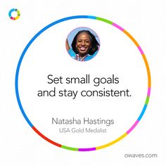 """Set small goals and stay consistent."" - Natasha Hastings #RoadToRio #NatashaHastings #oTime"