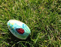 Easter Wooden Bunny Egg/Pullet Egg Hand by RussianFolkPaintings