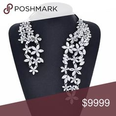 🆕ELEGANT CLEAR CRYSTAL NECKLACE WRAP Gorgeous!!! GORGEOUS!! Black tie. Formal. Wedding. Anniversary. 51Twenty Jewelry Necklaces