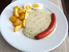 Kôprová omáčka • recept • bonvivani.sk Mashed Potatoes, Ale, Eggs, Breakfast, Ethnic Recipes, Food, Whipped Potatoes, Morning Coffee, Smash Potatoes