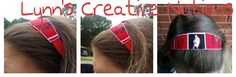 Get ready for football season with these super cute and comfortable headbands. They can even be personalized with your name. Most teams available. Please visit www.facebook.com/Lynnscreativenotions for ordering