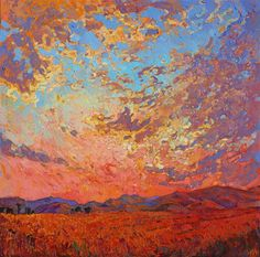 Gaze of Dawn - Contemporary Impressionism | Landscape Oil Paintings for Sale by Erin Hanson