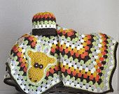 custom baby blankets granny square scarves by AllThingsGranny