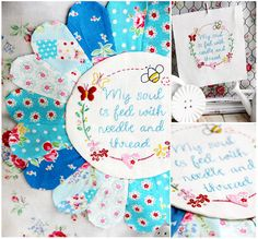 Lovely free embroidery pattern - @ Red Brolly, thanks so for great share xox ☆ ★…