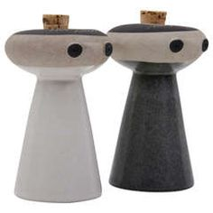 Mr Salt and Mrs Pepper from Bennington Pottery by David Gil