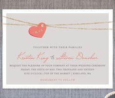 tangled love wedding invites